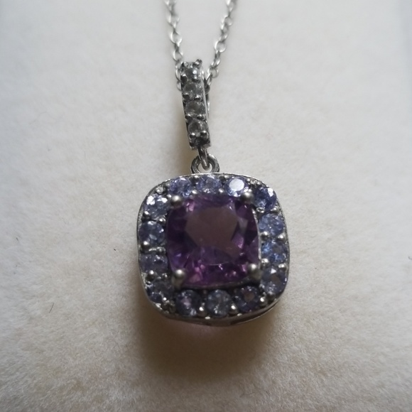 077ac923c Kay Jewelers Jewelry | New Amethyst Purple Pendant Necklace Silver ...
